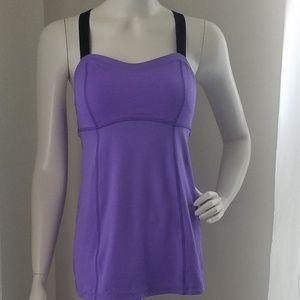 Lululemon purple crisscross tank top